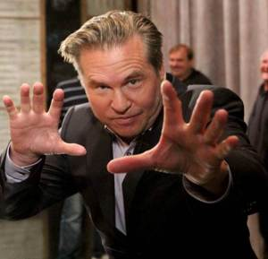 Val Kilmer magic trick turns Andy Ritcher into a pyramid of donuts backstage at Conan